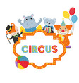 carnival circus banner carnival vector image