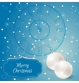 Christmas - card with chimes and white christmas vector image