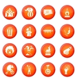 Circus entertainment icons set vector image vector image