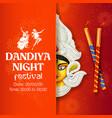 couple playing dandiya in disco garba night banner vector image vector image