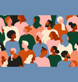 crowd young and elderly men and women in trendy vector image