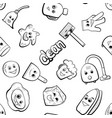 cute cartoon items for cleaning vector image vector image