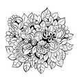 decorative art flowers vector image vector image