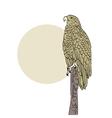 eagle background retro vector image