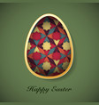 easter background with easter eggs spring vector image