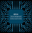 electronic chip background vector image
