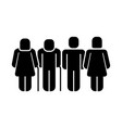 family figure silhouette icon vector image vector image