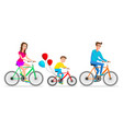 family ride bike healthy leisure and freedom vector image