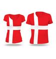 Flag shirt design of Denmark vector image vector image