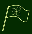 flag with clover leaf stpatrick s day vector image vector image