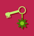 flat icon design collection key and key fob in vector image vector image