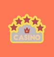 flat icon stylish background poker casino sign vector image vector image