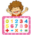 font design for numbers and signs vector image vector image