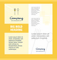fork and spoon company brochure title page design vector image vector image