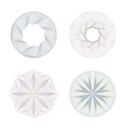 Four rosettes guilloche vector image vector image