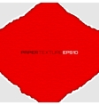 frame white lacerated papers on red background vector image
