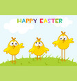 funny yellow chickens in shape an egg vector image vector image