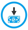 Get Dollar Banknotes Rounded Icon vector image vector image