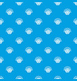 global communication pattern seamless blue vector image vector image