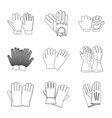 glove and winter symbol vector image
