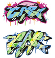 Graffito - cap vector image