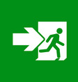 green emergency exit sign vector image vector image