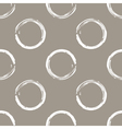 Grunge white circles on white coffee background vector image vector image