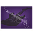guitar on a purple vector image vector image