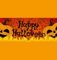 halloween pumpkins and fire vector image vector image
