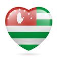 Heart icon of Abkhazia vector image vector image