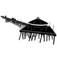 huntington beach pier silhouette vector image vector image