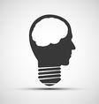icons bulb a human head vector image