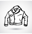 leather jacket grunge icon hand-drawn doodle vector image