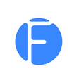 letter logo modern abstract blue icon of letter f vector image vector image