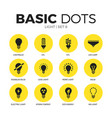light flat icons set vector image