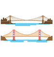 long and large bridge across the river vector image vector image