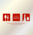 menu design presentation in metallic background vector image vector image