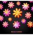 Modern Floral shape vector image