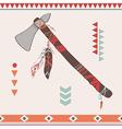 native American indian tomahawk vector image vector image