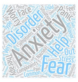 Overcome Your Anxiety text background wordcloud vector image vector image