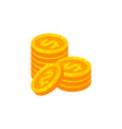 pile coins money icon design money sign symbol vector image