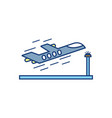 plane taking off travel aviation transport airport vector image