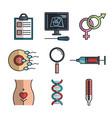 pregnancy maternity medical equipment elements vector image vector image