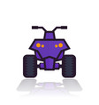 quad bike icon vector image