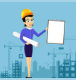 realtor or architect holds document vector image vector image