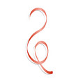 red curl ribbon mockup realistic style vector image