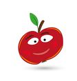 red funny and smiling apple with eyes and mouth vector image