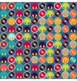 Seamless pattern with headphones and vinyl record vector image vector image