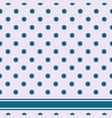 seamless retro texture polka dots vector image vector image