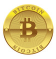 sign of golden coin bitcoin isolated on white vector image vector image